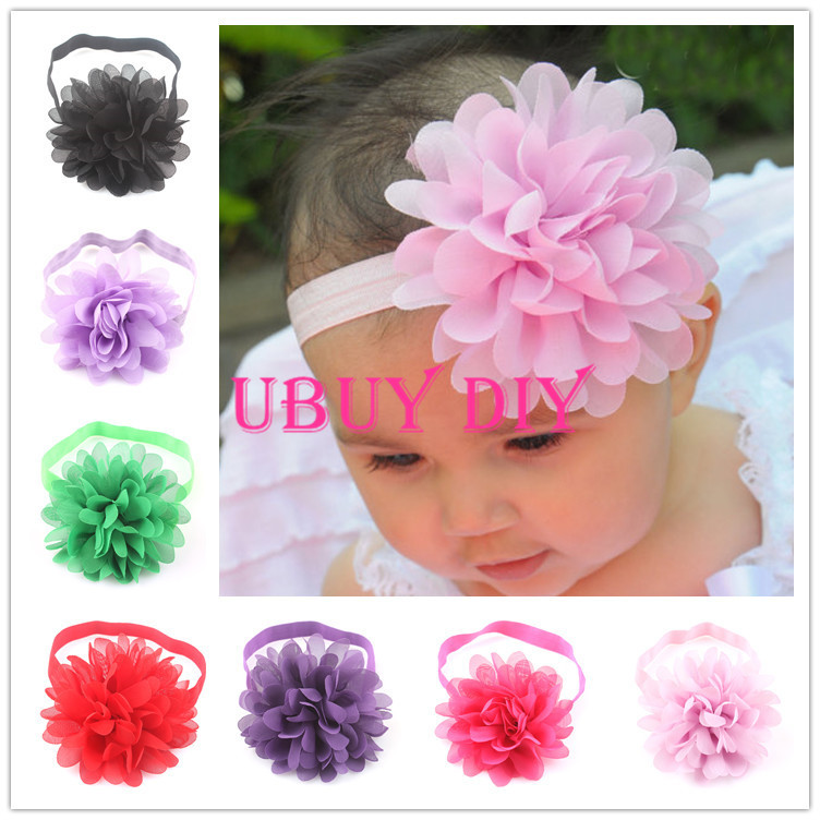 Retail CHOOSE YOUR COLOR 15 COLOR Newborn Baby Girl's Flower Headbands Baby Kids Hairbands Baby Photo Props(China (Mainland))