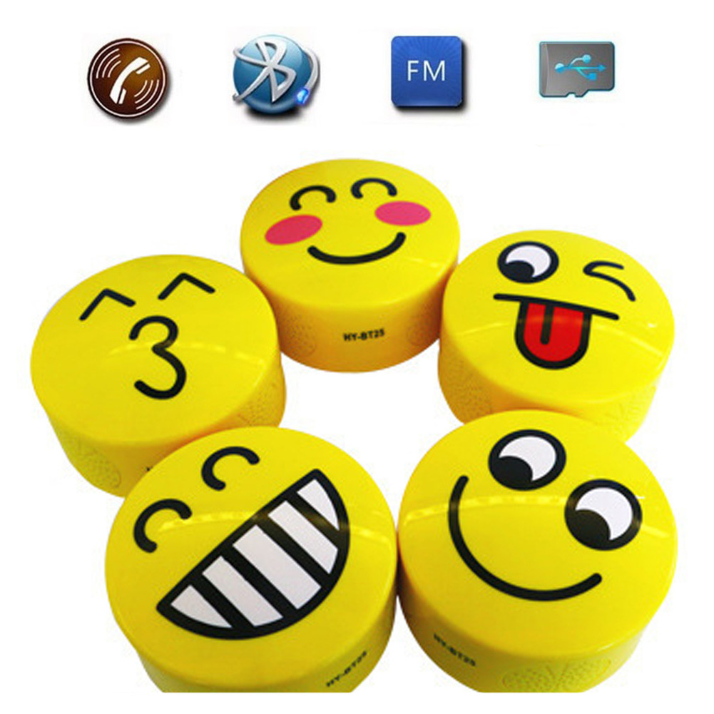 HY-BT25 Lovely Cartoon Expression Mini Wireless Bluetooth Speaker Portable Bluetooth Stereo Speaker With TF/USB/FM Function(China (Mainland))