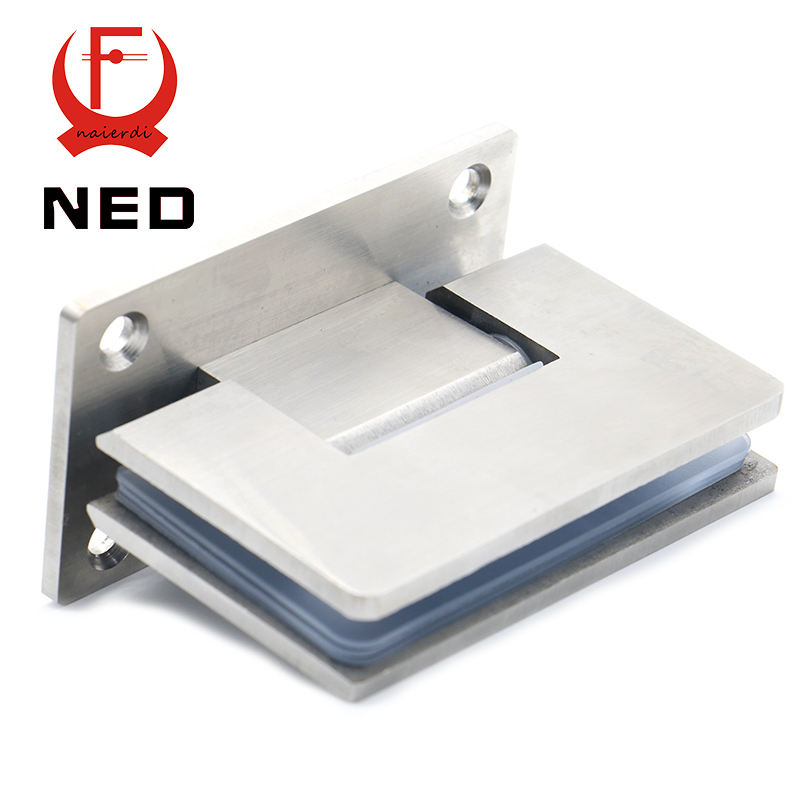 2PCS NED-4913 90 Degree Open 304 Stainless Steel Wall Mount Glass Shower Door Hinge For Home Bathroom Furniture Hardware(China (Mainland))