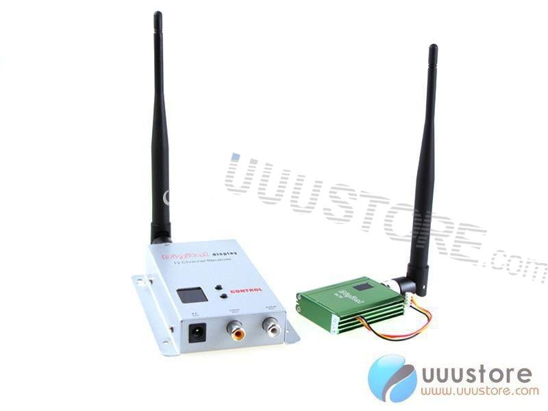 FPV 1.2g/1.3g 400mw 8CH Wireless Audio Video transmitter and Receiver For DJI Phantom Six Four axis Hexrcopter Quadcopter<br><br>Aliexpress