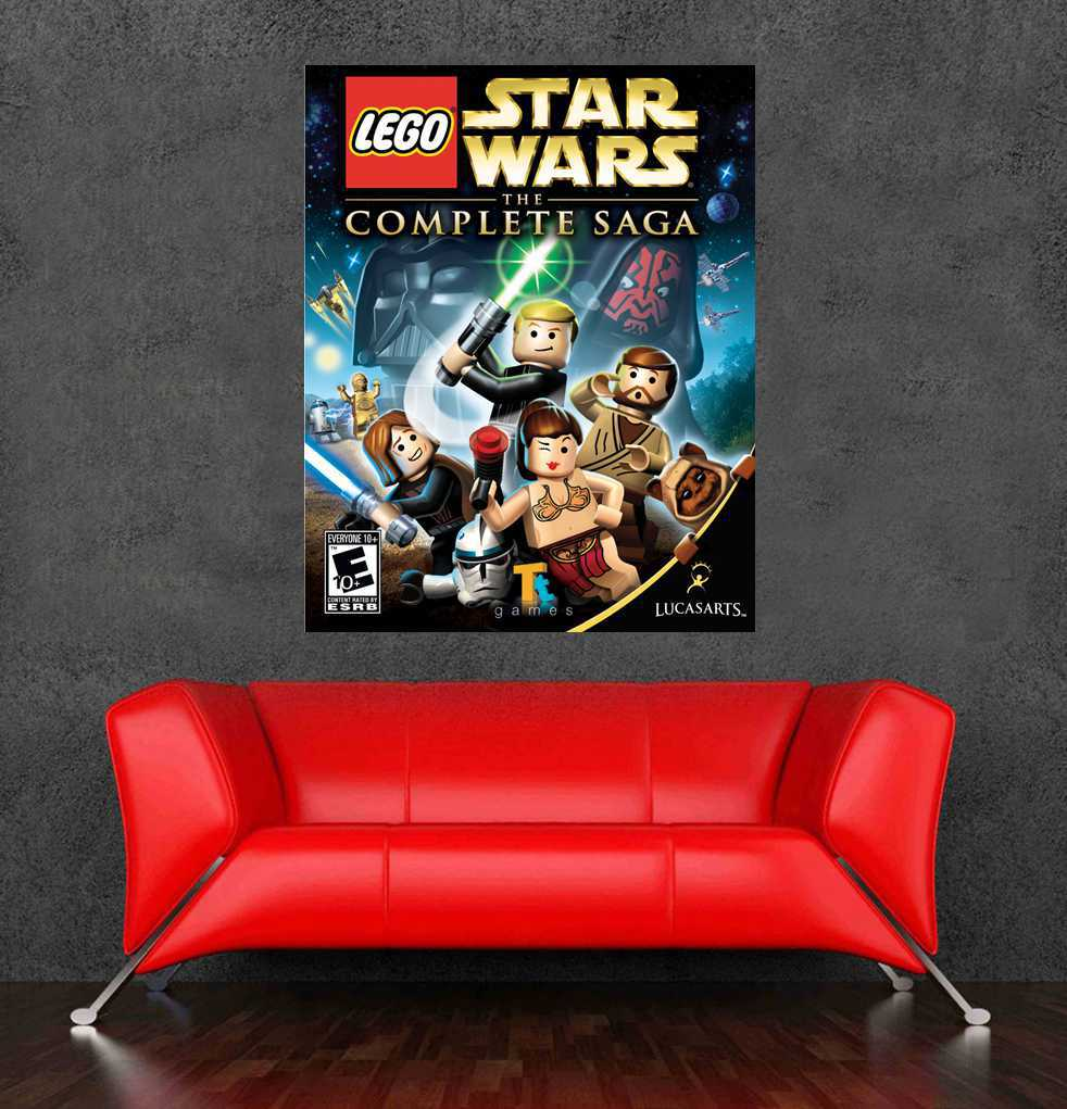 free shipping lego star wars poster wall stickers for kids large size lego star wars wall sticker for kids room wall