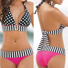 Free Shipping 2015 hot sale Sexy Women Swimwear Neoprene Bikini Set Bandeau Push-Up Padded Bra Swimsuit KSKS(China (Mainland))