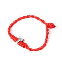26 Английский алфавит T-Z День Святого Валентина счастливая веревка шнур буквы с кристаллами красная веревка Пара Браслеты для влюбленных(China)