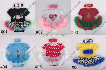 Baby Princess Owl/Christmas Baby Romper Baby One-pieces Rompers Baby Girl Summer Clothing romper+Hair band A001