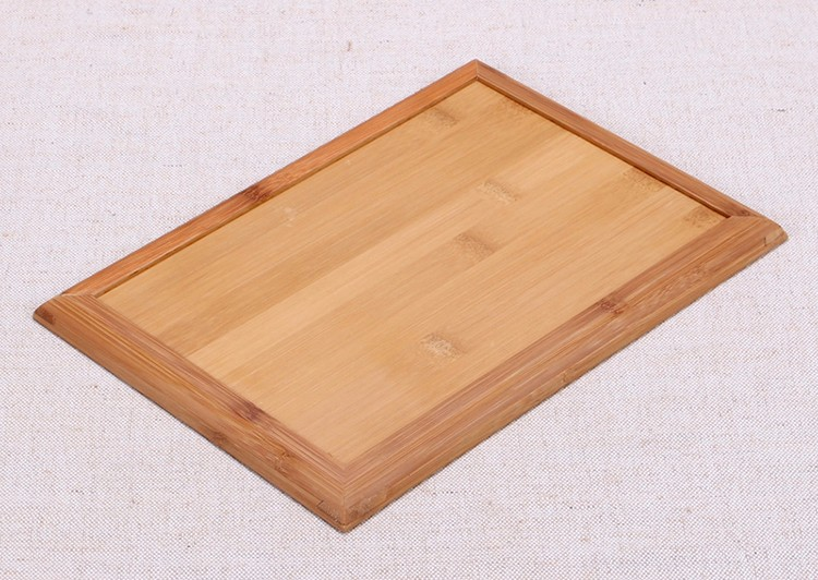 japan style solid bamboo storage tray for kungfu tea food fruit