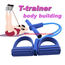 waist reducer soft body trimmer T-trainer resistance tube pedal exerciser body building equipment for man and women workout