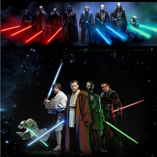 Hot Sale Star Wars Lightsaber 66cm LED And Action Figure Flashing Light Sword Toy Mutual Percussion Sabers For Boy Free Shipping(China (Mainland))