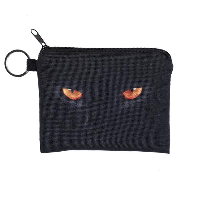 1 шт. 3D печать портмоне новый злые глаза кошка молния чехол женский макияж багги ...