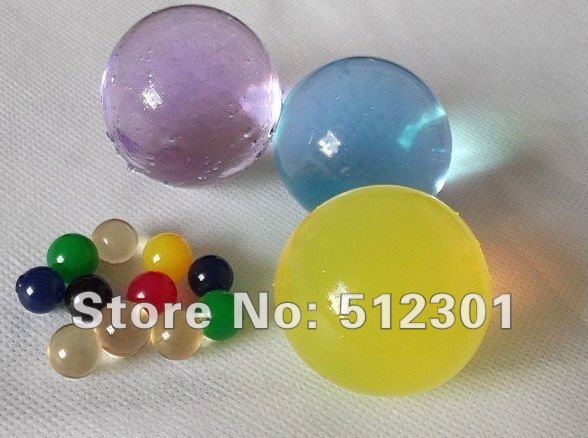 Free Shipping 50g large/big size jumbo crystal soil / jumbo water beads clay super absorbent polymer(China (Mainland))