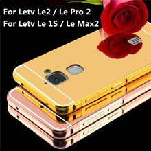 Buy Case Letv 1S Le Max2 Luxury Gold Plating Aluminum Metal Frame+Mirror Acrylic Back Case Letv LeEco Le2 Le2 Pro Le Cool 1 for $2.46 in AliExpress store