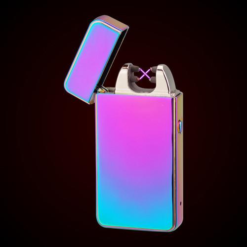 ถูก การปรับปรุงArcสไตล์USBเบายาสูบอิเล็กทรอนิกส์Dual Arcแบบชาร์จไฟแช็กกับกล่องของขวัญ