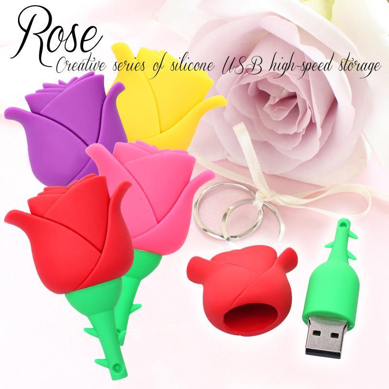 USB flash drive Mini Rose pen drive 32gb 16gb 8gb pendrive memory stick novelty memoria usb stick usb2.0 mini gift Free Shipping(China (Mainland))