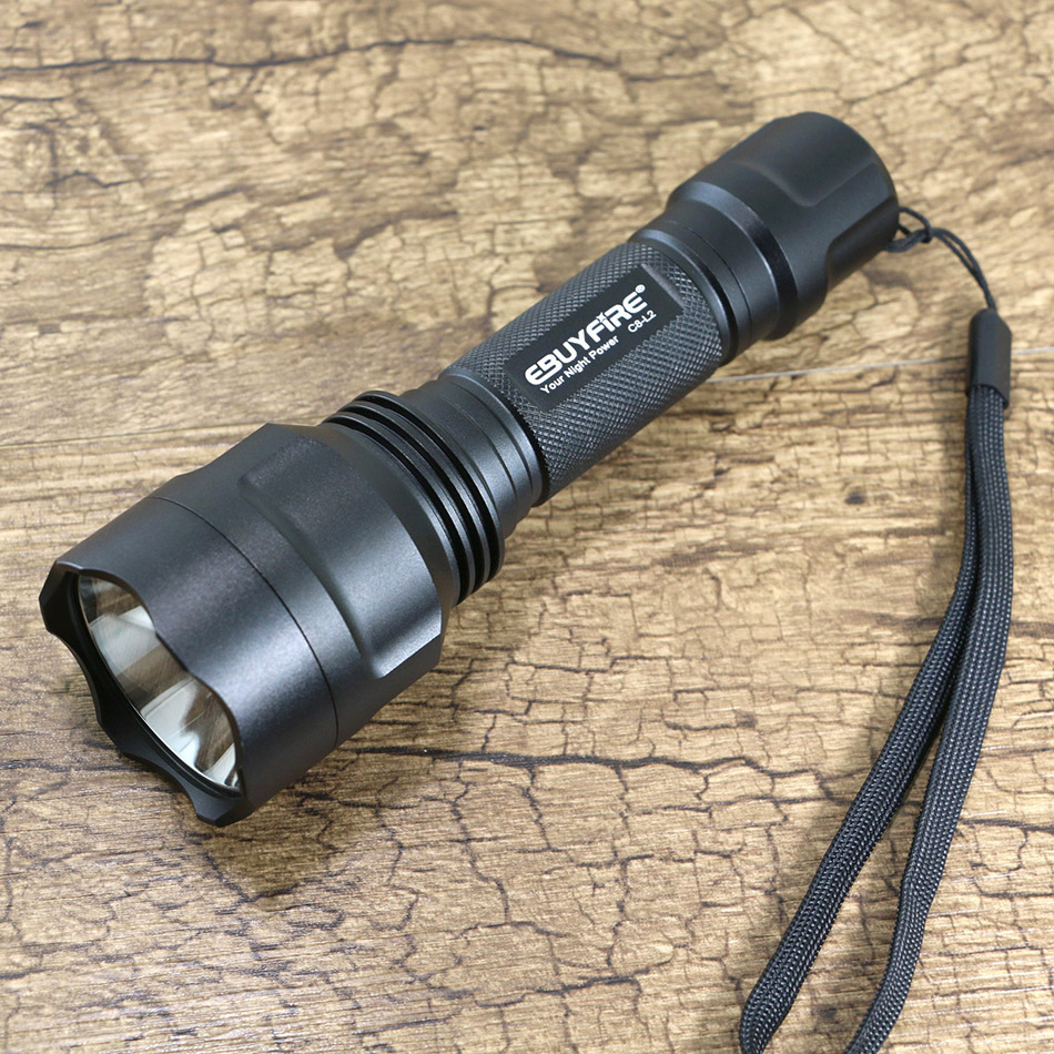 EBUYFIRE C8 L2 Flashlight CREE XML L2 U2 LED lights leds light flash Tactical shock flashlight torch xml torch