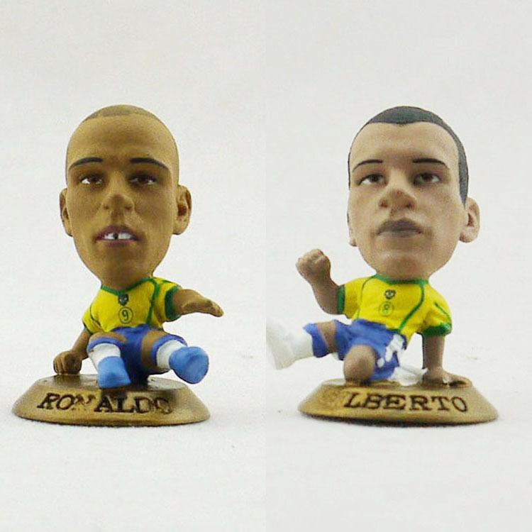 2014 World Cup souvenirs Ronaldo GILBERTO, the Brazilian national team soccer doll free shipping CORINTHIAN brand(China (Mainland))