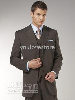 Buy Custom Made Mens Suits Brown With