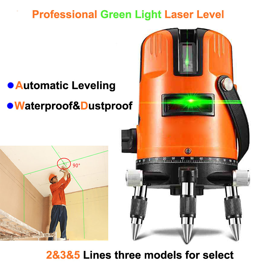 2 3 5 Lines Points Green Laser Lines Upgrade Decoration 360 Rotary Wall Multi Line Automatic Self-Leveling Laser Level(China (Mainland))