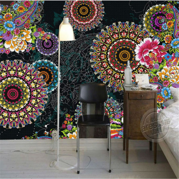 Charming paisley pattern flowers wallpaper 3d photo wallpaper custom mural painting wall art - Design patterns wall painting ...