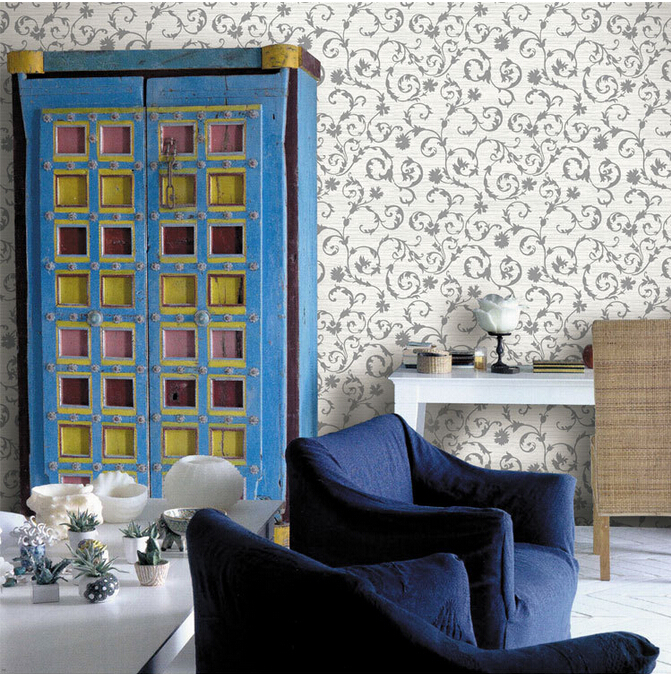 Wl df4072 moda pared del pvc papel tapiz de flores alta for Papel vinilo precio
