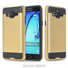 Brush Hybrid TPU PC Hard Case LG V20 LV3 K7 M1 K8 Iphone 6 6S Plus Samsung S7 Edge On5 Metallic Soft Armor Skin Cover 1 - Saleonline store