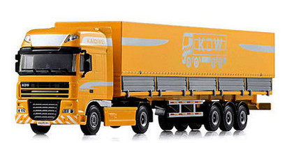 High Quality!!! KAIDIWEI Construction Tent Platform Transporter Truck Car 1:50 Alloy Vehicle Toys Gifts Models(China (Mainland))