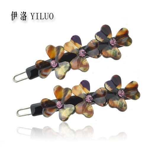 Vintage Hair Pin New Arrival Flower Hair Grip Rhinestone Crystal Hair Clip Women & Gilrs Acetate Hair Accessories(China (Mainland))