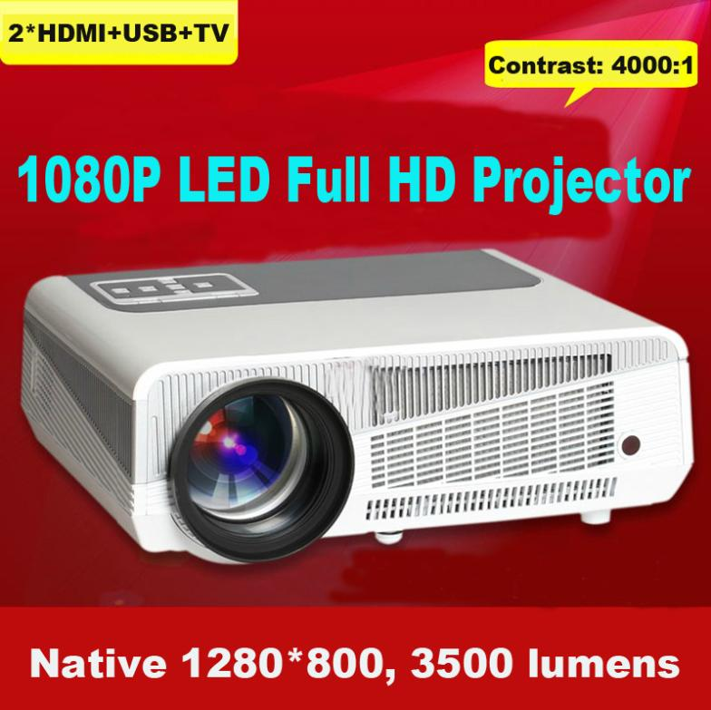 2014 newest! home theater hd projector full hd 3500 lumens digital hdmi video projector support XBOX, PS3, Wli, game console(China (Mainland))