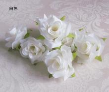 Free Shipping!30PCS Beautiful Roses Wedding Artificial Flower Heads DIY Craft Wedding Table Party Decor(China (Mainland))