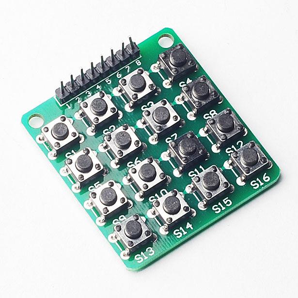 4X4 matrix keyboard outside line keys 16 keys keyboard microcontroller expansion module provides sample code(China (Mainland))