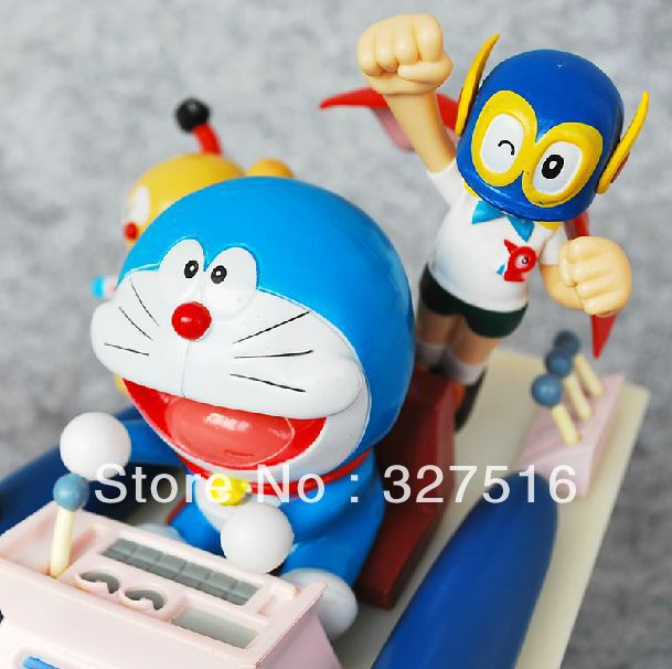 Free shipping 2013NEW! anime Doraemon Time machine cute  PVC   Action Figure approximately 17CM height<br><br>Aliexpress