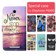Buy Fashion cartoon printed flip wallet leather case Elephone P6000 Card Slot phone bag book case,free gift for $4.49 in AliExpress store