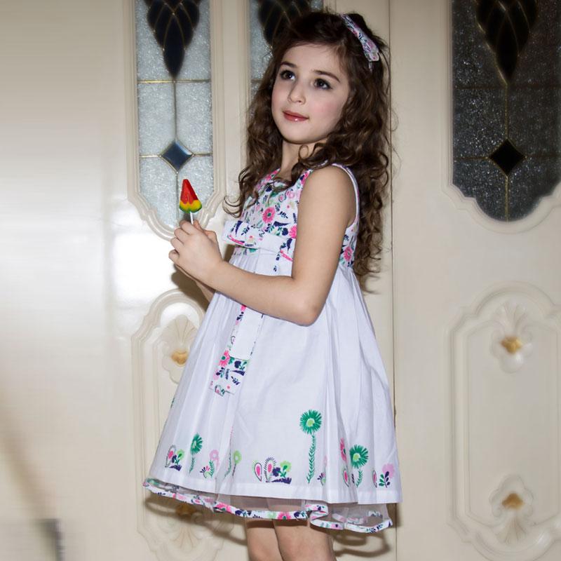 Baby Girl Dress 2016 New Brand Kids Print Summer Dresses for Toddler Girls Girls Clothes Children Birthday Dresses(China (Mainland))