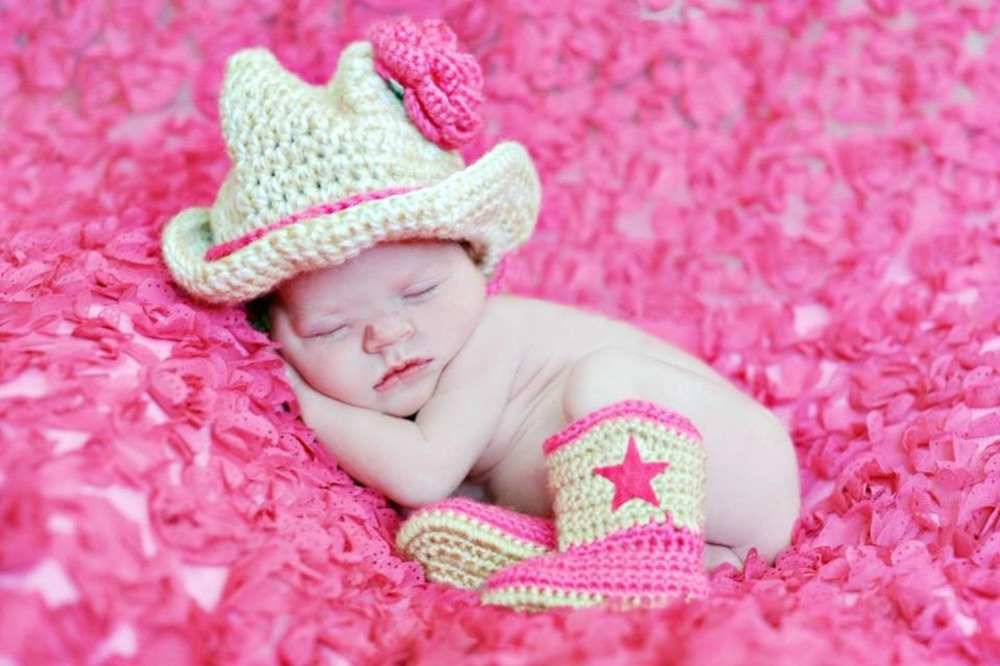 Newborn Girl Cowboy Cowgirl Flower Hat Boots Baby Clothings Baby Photography Prop Handmade Crochet Knitted Costume Baby Gift(China (Mainland))