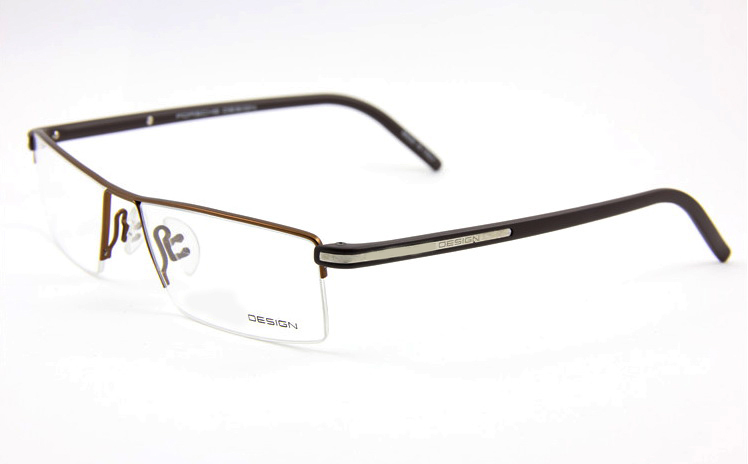 100 titanium fullrim brown designer custom made