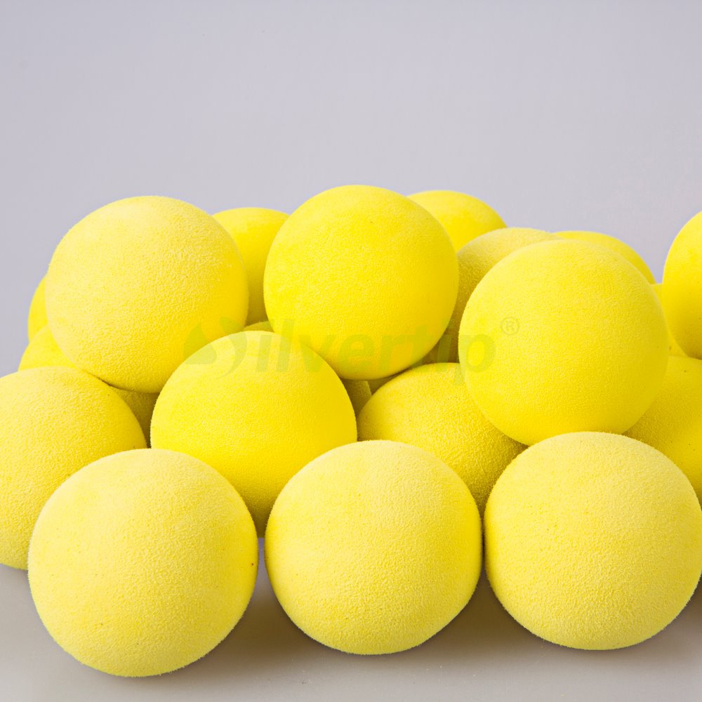 Free Shipping 24 Pack Yellow EVA Foam Golf Balls Sponge Indoor Practice Restricted Flight(China (Mainland))