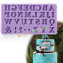 3D Alphabet Letter Silicone Fondant Mold Cake Chocolate Sugarcraft Cutter Mould(China (Mainland))