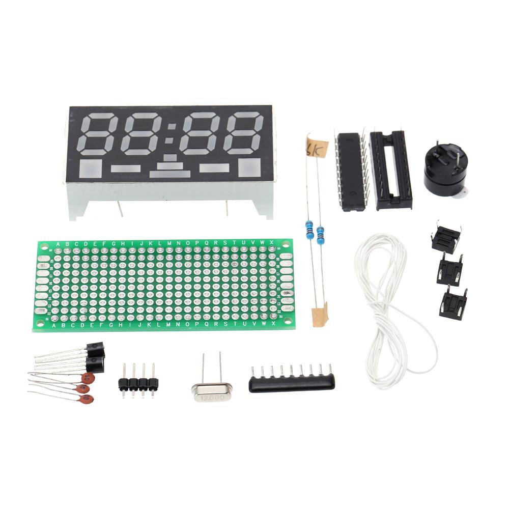 Simple 4-digit DIY Digital LED Clock Kit Simple Desktop Electronic Mini-Clock(China (Mainland))