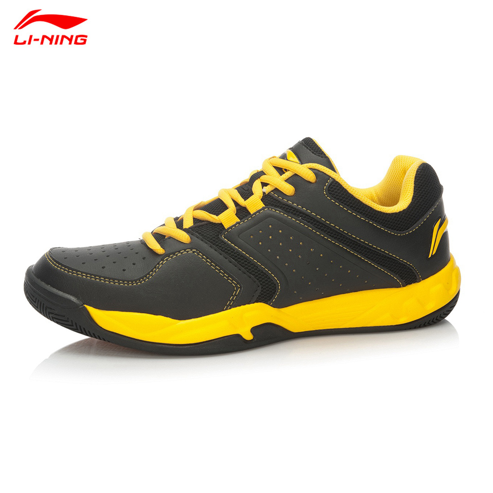 2015 New Li-Ning Men Badminton Training Shoes Hard-Wearing Shock-Absorbant Sports Shoe Lining AYTK077(China (Mainland))