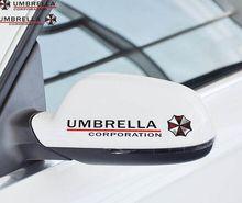50 sets Stickers Rear View Mirror Car Reflective Umbrella Decal for Tesla Ford Chevrolet Volkswagen Honda Hyundai Kia Lada
