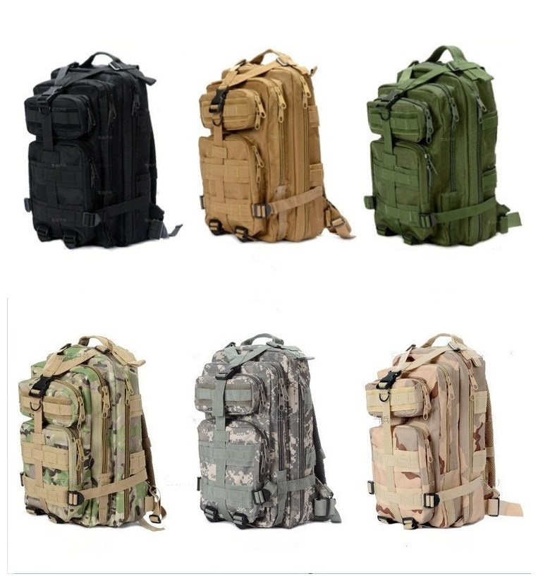 Men Women 24L Waterproof Day Pack Unisex Daypack Mini Outdoor Tactical Backpack Military Bags Climbing Cycling Fishing Rucksack - Anna's holiday store