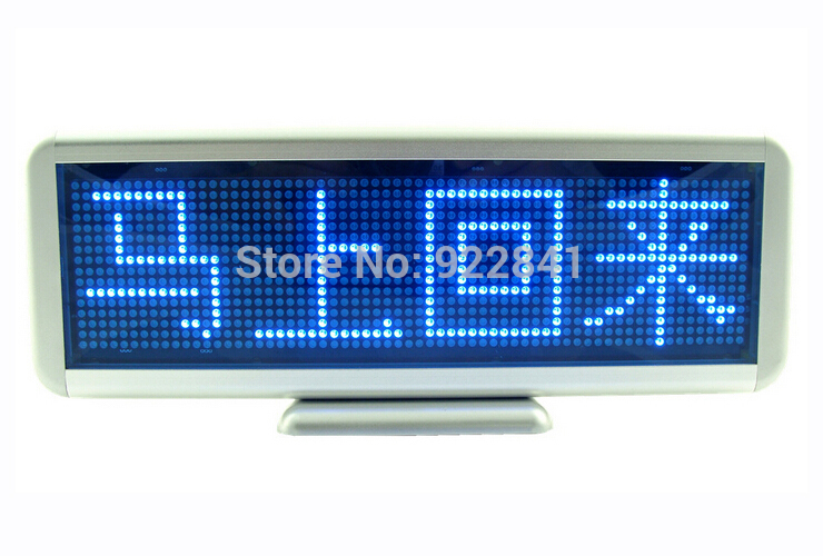 16*64 Dots blus&green LED sign Desk Board rechargeable+programmed message scrolling display screen order>=5pcs 10%off(China (Mainland))