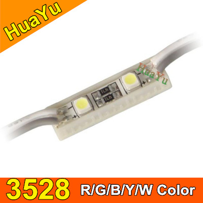20pcs LED modules light 3528 2leds/pc waterproof IP65 DC12V ABS material LED Modules for channel letter R/G/B/Y/W Color<br><br>Aliexpress