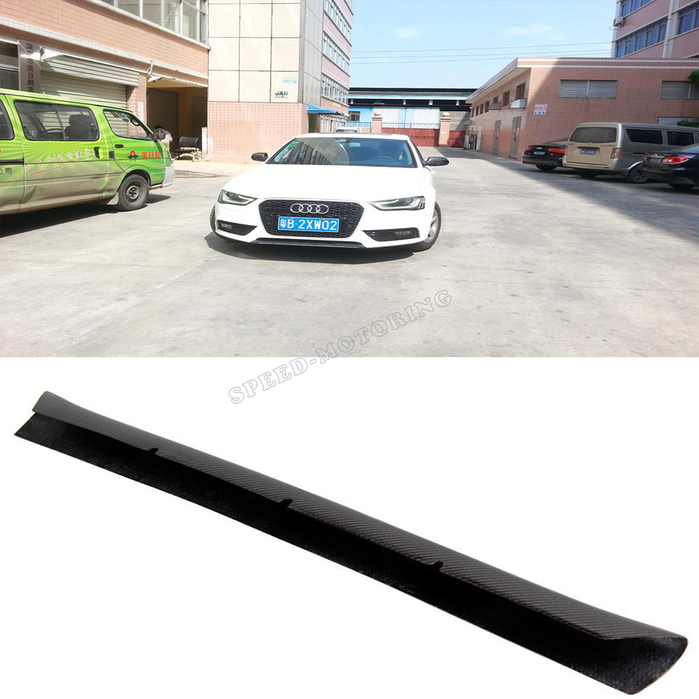 Фотография A4 B9 carbon fiber front spoiler lip decoration for Audi A4 B9 standard bumper