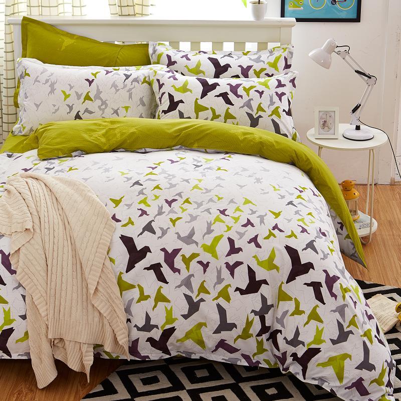 bedding set 5 size Green Spirit bedding set duvet cover set Korean bed sheet +duvet cover +pillowcase pink bed cover bed linen(China (Mainland))