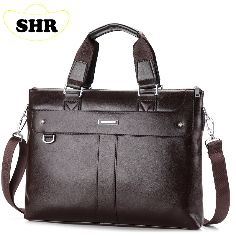 2015 Men Casual Briefcase Business Shoulder Bag Leather Messenger Bags Computer Laptop Handbag Bag Men's Travel Bags NBB235(China (Mainland))