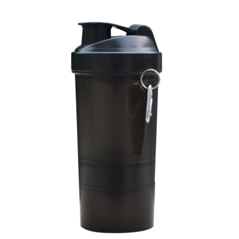Protein shaker blender mixer cup home travel sports fitness gym 3 layers multifunction 500ml BPA free plastic my water bottle(China (Mainland))