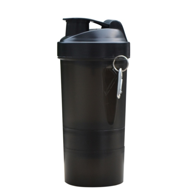 Белок шейкер блендер смеситель главная путешествия спорт тренажерный зал 3 слоя многофункциональный 500 мл BPA бесплатно пластиковые мой бутылки воды