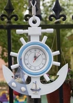 Mediterr neo accesorios decorativos para el hogar barato relojes de madera del tim n de anclaje - Accesorios decorativos para el hogar ...
