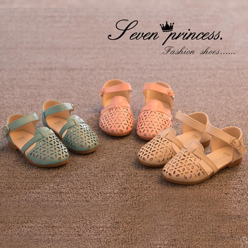 2015 Spring And Summer Burst Leisurely Korean Fashion Girls Sandals Sandals Princess Cut(China (Mainland))