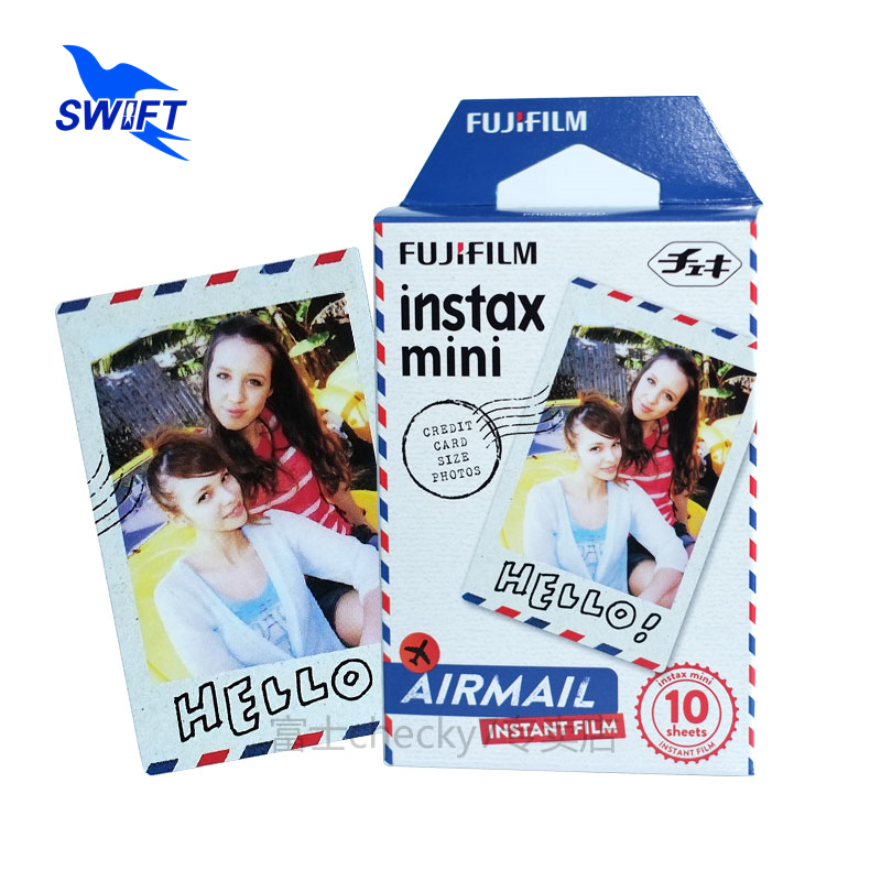 100% Original 10 Sheets/Pack 54*86mm Airmail Envelope Fujifilm Instax Mini Film Cheap Fujifilm Instax For mini7s/8/25/50s/90(China (Mainland))