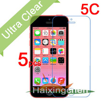 For Apple iphone 5C Ultra Clear LCD Screen Protector Guard Cover Protective Film (5pcs film+5pcs cloth)